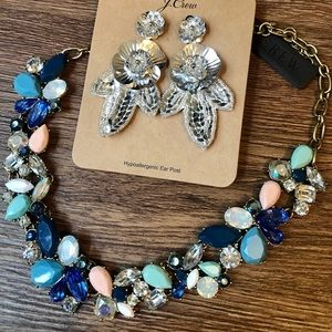NWT J.Crew Necklace + Earrings